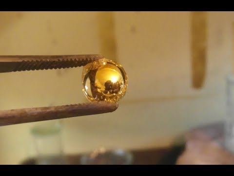 Refining GOLD to 24K with oxalic acid