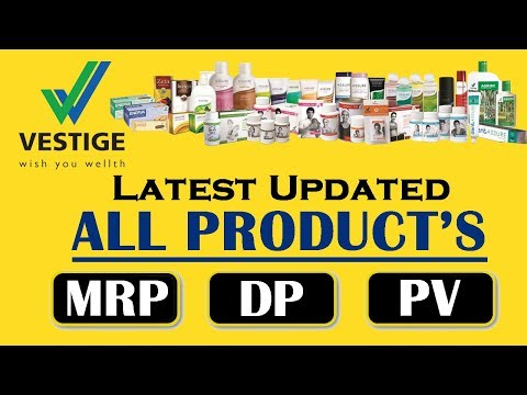 Vestige all products MRP, DP, & PV | Product list | Price list - YouTube