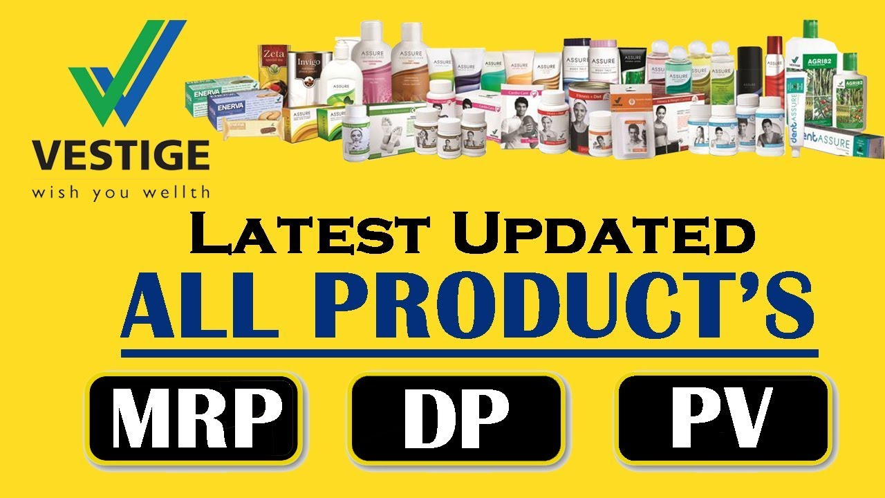 Vestige all products MRP, DP, & PV | Product list | Price list