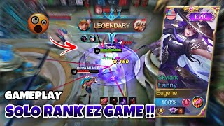 SOLO RANK‼️ BULLYING ENEMY WITH FREESTYLE KILL !! Fanny Gameplay   MLBB