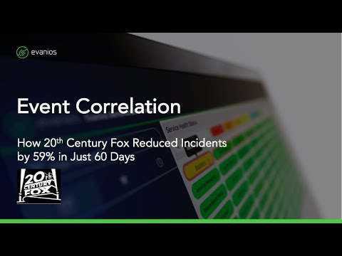 Webinar: How 20th Century Fox Uses Evanios to Prevent Flooding and Resolve Incidents Automatically
