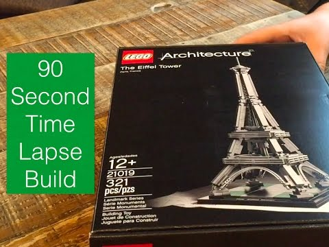 lego architecture 21019 the eiffel tower time lapse build - youtube