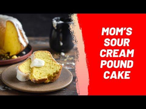 Mom's Sour Cream Pound Cake