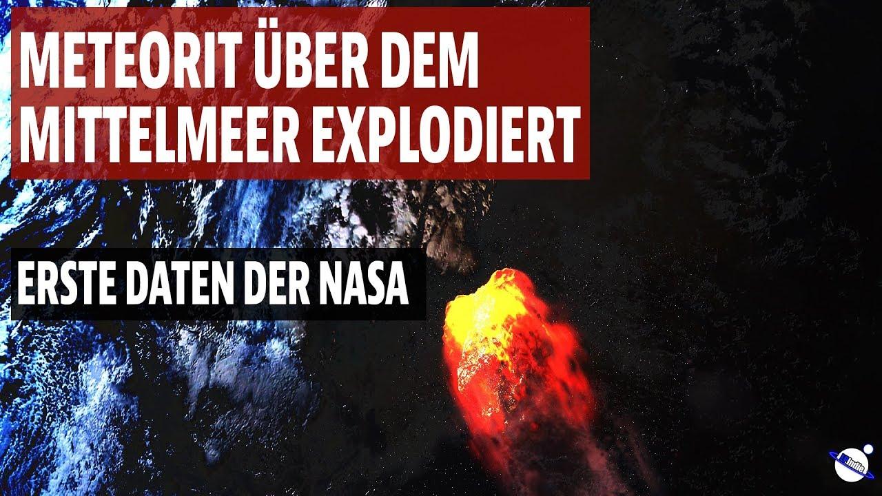 Meteorit über dem Mittelmeer explodiert - Nun erste Daten der NASA