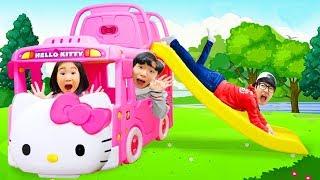 보람이와 또치의 버스 미끄럼틀 장난감 놀이 New Bus Toys
