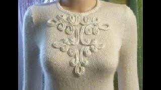 Анонс МК по вязанию чудесного бесшовного свитерка с отделкой шнуром/  how to crochet sweater