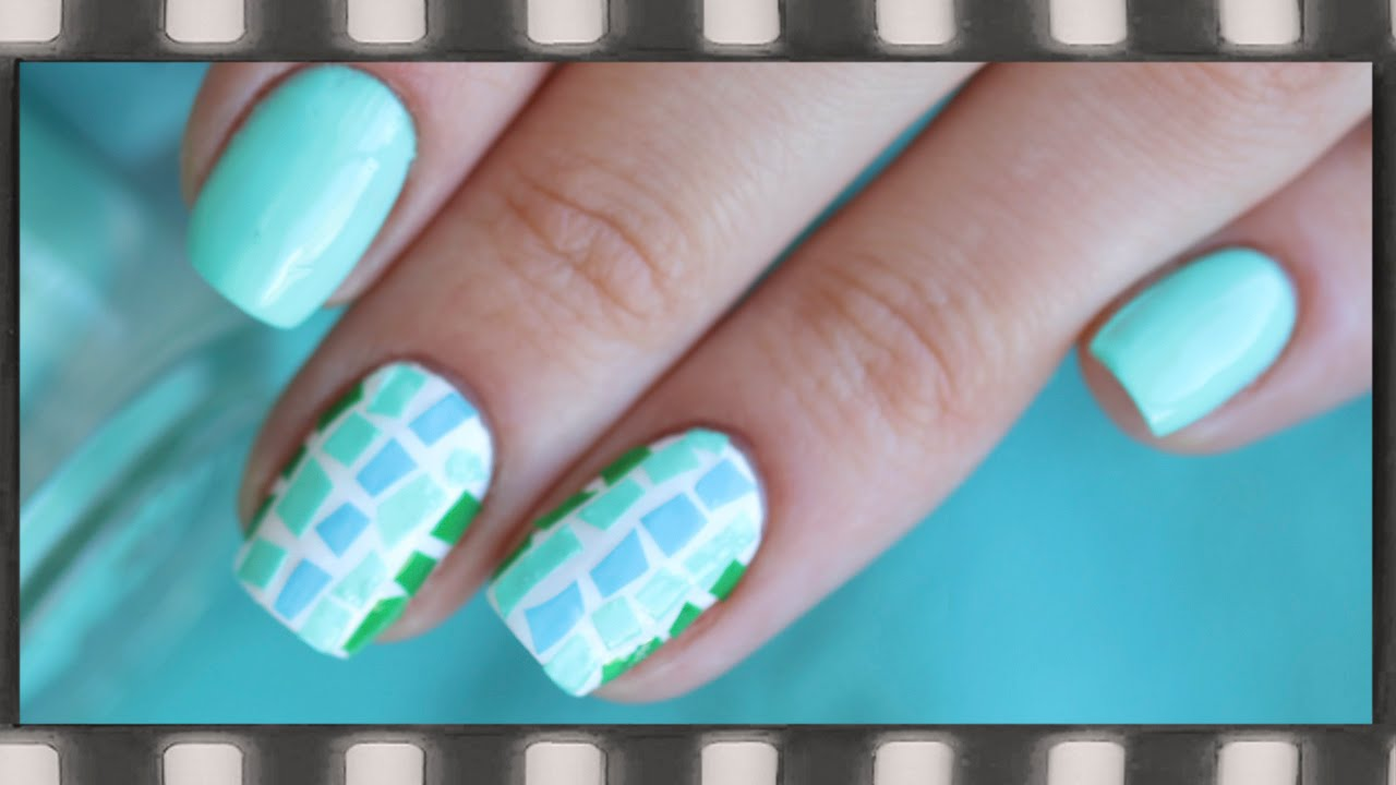 Дизайн мозаика фото ногти