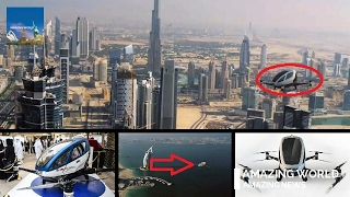 The world's first pilotless aerial vehicle dubai : ehang 184 : drone taxi dubai : aav aircraft
