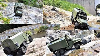RC CAR WPL B36 Ural Military Truck Metal 2-Speed 370 Motor Rock Climbing