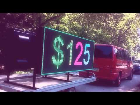 LED Sign Portable Digital Screen Outdoor Advertising, a River of Customers 216-475-9800