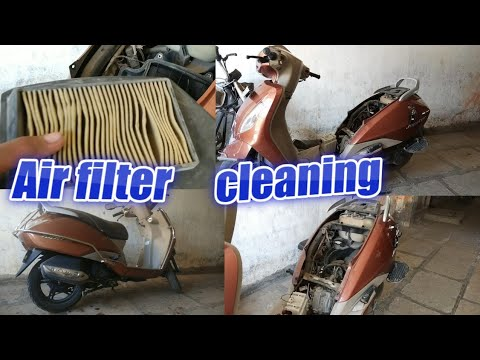 Tvs Jupiter Engine Air  Filter cleaning