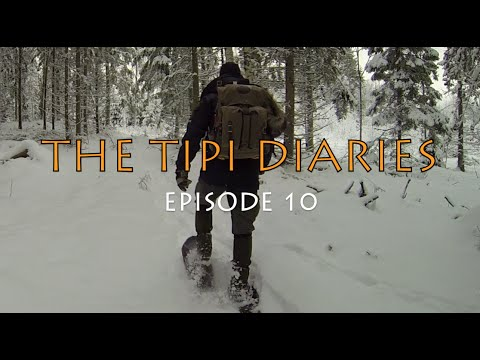 The Tipi Diaries Ep10 - Winter Camping In a Canvas Tent and a Wood stove