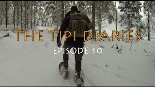 The Tipi Diaries Ep10 - Drying Clothes - Snow Shoeing - Painting - Tentipi Safir 7 CP Bushcraft
