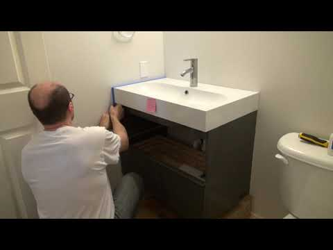 IKEA Wall Mount Cabinet Installation. PART (2)