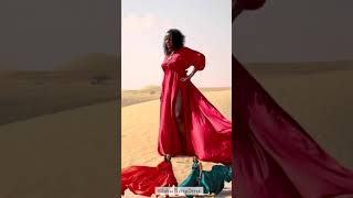 Dubai Desert Flying Dress Photoshoot