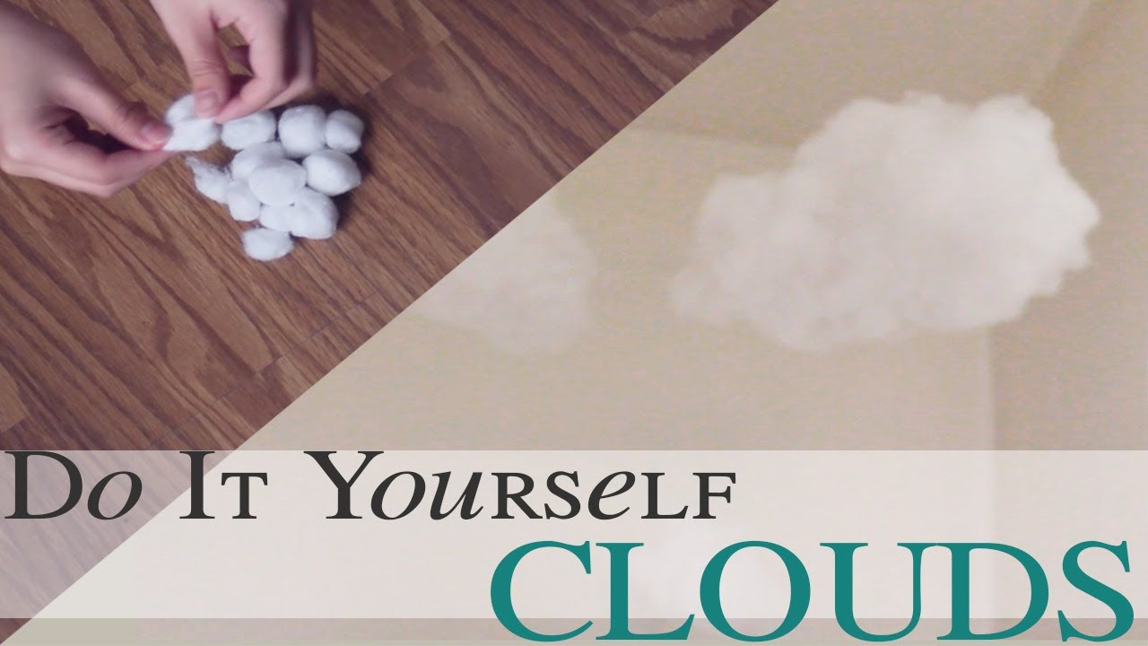 Diy cloud mobile psstminnie youtube for Diy clouds ceiling