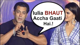 Salman Khan OPENS UP About Girlfriend Iulia Vantur At Race 3 Song Launch