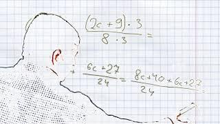 Сложение и вычитание алгебраических дробей с разными знаменателями #2