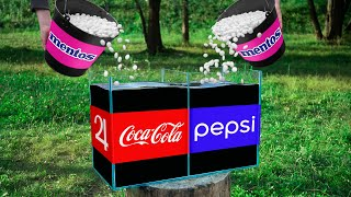Experiment: Coca Cola and Mentos VS Pepsi and Mentos
