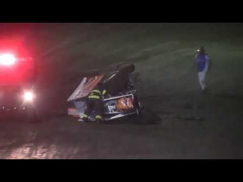 Kevin Flowers and Tommy Barber roll -- 6/30/17 -- Rapid Speedway