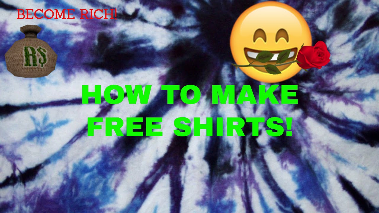 Roblox How To Make Free Shirts 2018 New Youtube
