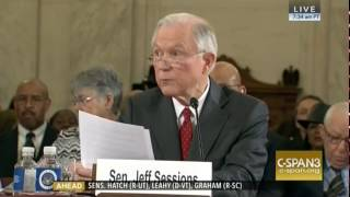 "Sessions Forcefully Defends His Record ""Straight On"""