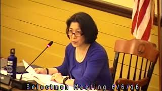 Acton, MA  Board of Selectmen Meeting 6/6/16
