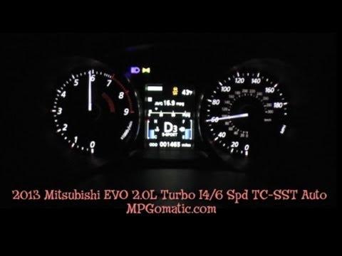 2013 Mitsubishi EVO MR 060 MPH  YouTube