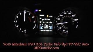 2013 Mitsubishi EVO MR 0-60 MPH