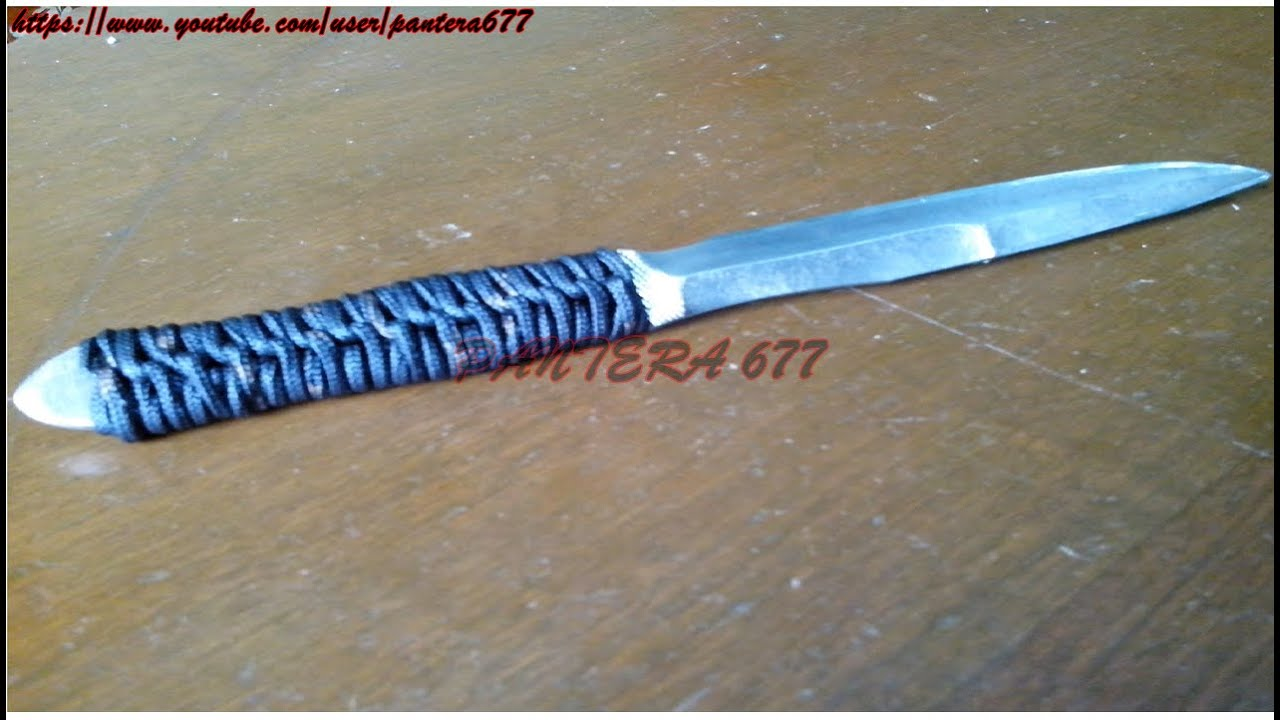 C mo hacer un mango de cuchillo con cuerda youtube for Como pulir un cuchillo
