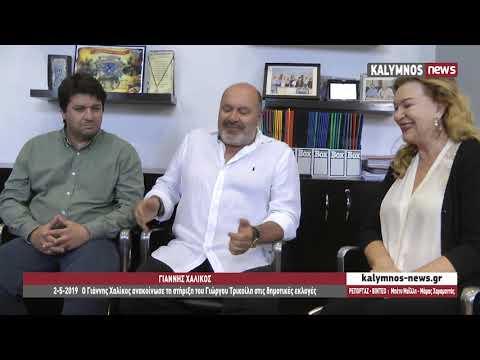 2-5-2019 Ο Γιάννης Χαλίκος ανακοίνωσε τη στήριξη του Γιώργου Τρικοίλη στις δημοτικές εκλογές