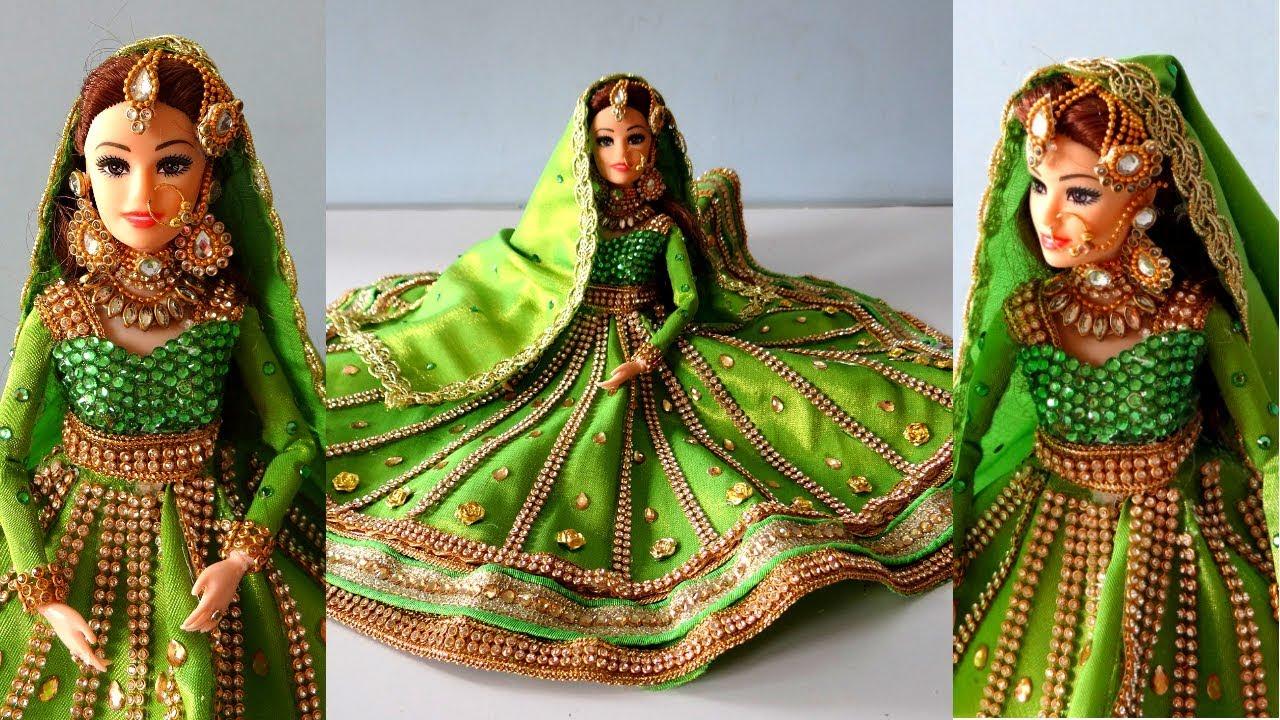 Barbie Anarkali lehenga | Traditional Muslim bride doll ...