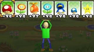 - What happens when Baldi uses Mario s Power Ups