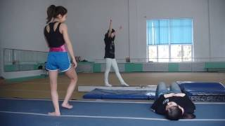Малахова Елена, тренировка девочек, спортивная гимнастика ЦСКА Алматы