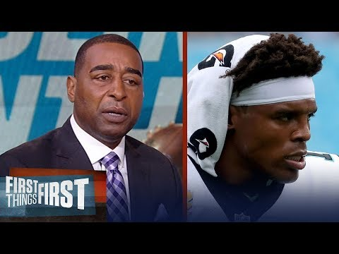 Cris Carter on the Panthers sitting Cam Newton for the rest of the season | NFL | FIRST THINGS FIRST