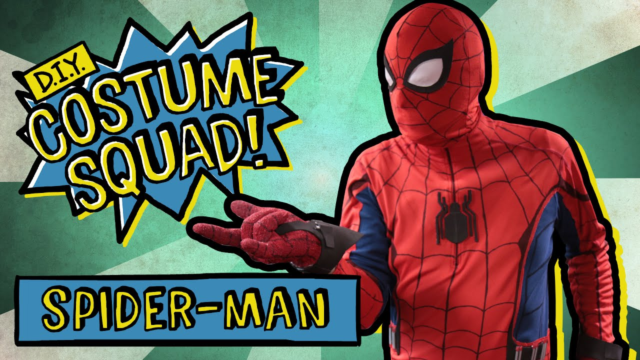 make your own spider man homecoming suit diy costume squad youtube