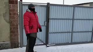 ПРОБЛЕМЫ! Зимний обзор откатные ворот