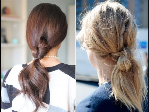 Easy Knotted Ponytail