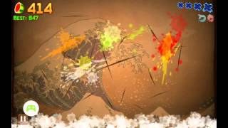 Fruit Ninja Classic High Score Game Play HD