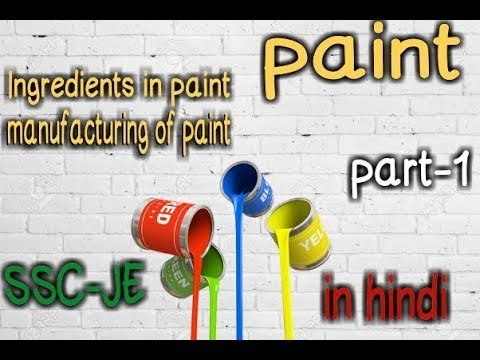 Paint | Ingredients In Paint | Manufacturing Of Paints | In Hindi