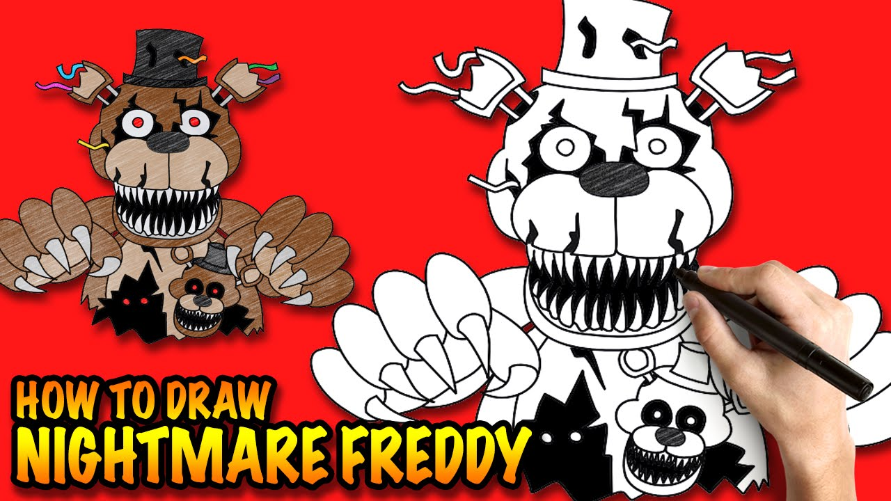 How to draw fnaf freddy steps - How To Draw Nightmare Freddy Fnaf Step By Step Drawing Tuturial Youtube