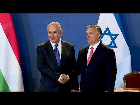 Orbán Viktor és Benjamin Netanjahu közös sajtótájékoztatója