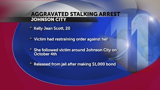 Woman charged with aggravated stalking in Johnson City