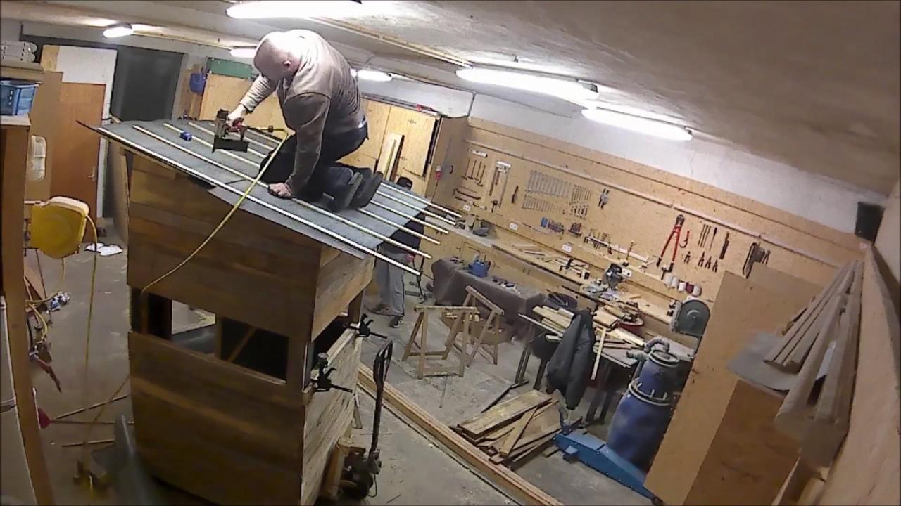 kanzelkabine bauen das dach und innenausstattung youtube. Black Bedroom Furniture Sets. Home Design Ideas