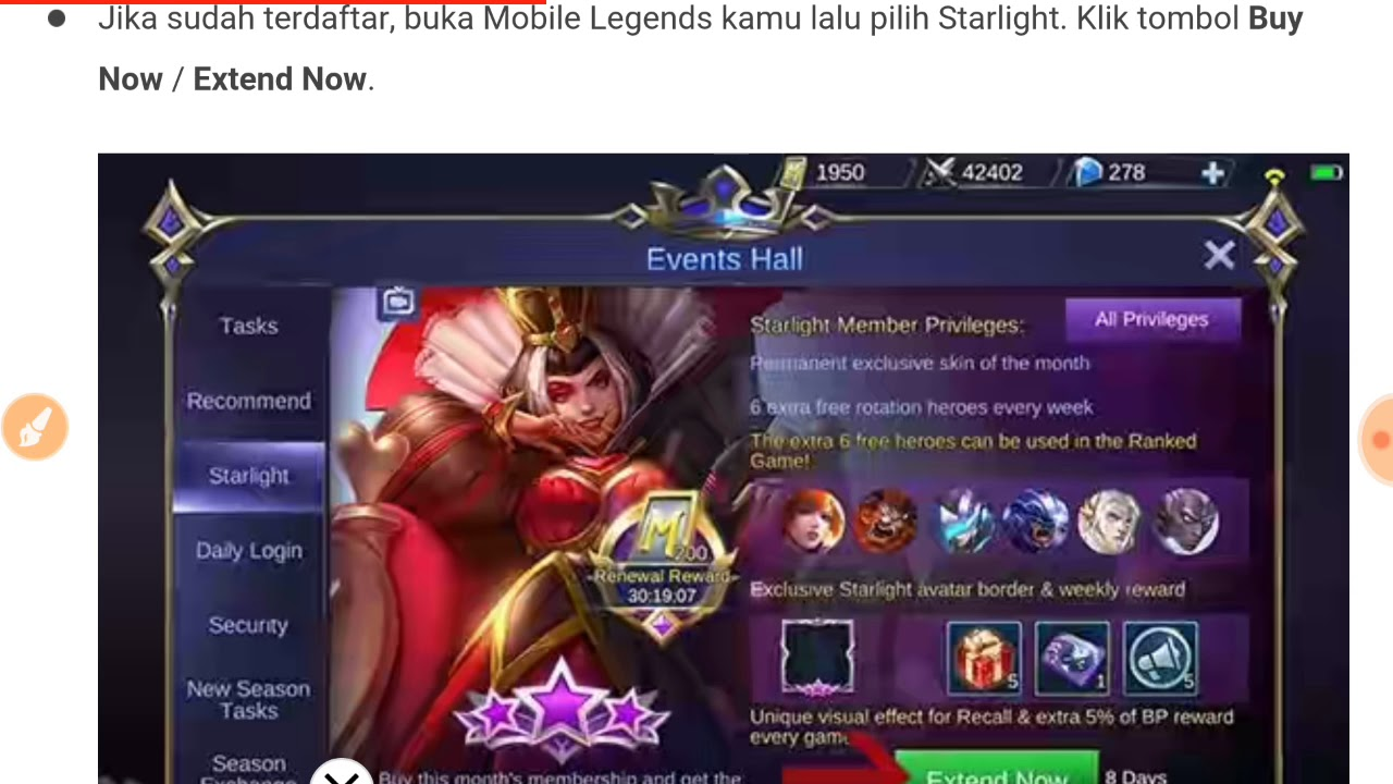 Murah Cara Beli Starlight Member Mobile Legends Pakai Pulsa Youtube