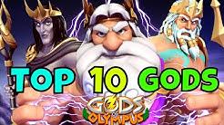 New Top 10 Gods 2018 | Gods Of Olympus