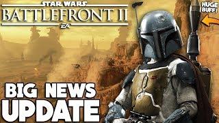 BIG NEWS! HUGE Boba Fett Changes, Darth Vader and Finn BUFF and More! Star Wars Battlefront 2