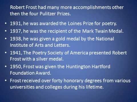 robert frost accomplishments