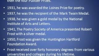 Robert Frost Power Point Presentation