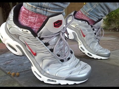 1704b2865b NIKE AIR MAX PLUS SILVER BULLET UNBOXING + REALEST ON FOOT ON YOUTUBE!
